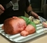 Cool Links - Slicing A Realistic-Looking Baby Cake