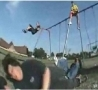 Cool Links - Backflip Off Swing With A Nut Shot FAIL!