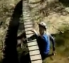 Funny Links - Chick Wipes Out On Small Bridge