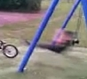 Funny Links - AWESOME Flip From Swing Onto BMX!