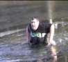 Funny Links - Fatty Jumps Into A Frozen Lake