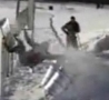 Funny Links - Snowboarder Crashes Into Short Fence