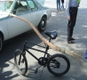 Weird Funny Pictures - Broom Stick Bike