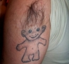Funny Pictures - Hairy Troll Tattoo