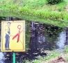 - No Pee Funny Sign