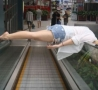 Funny Links - One Way To Ride An Escalator